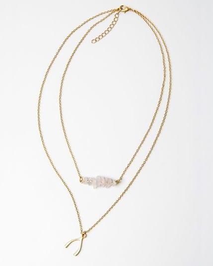 collar de colgantes con bano de oro--MainImage