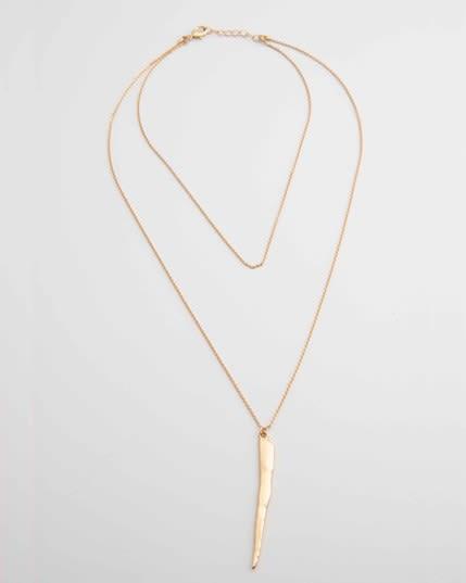 collar con gargantilla y cadena larga con pendiente--MainImage