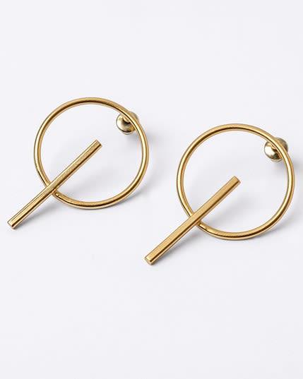 aretes circulares estilo candonga con bano de oro--MainImage