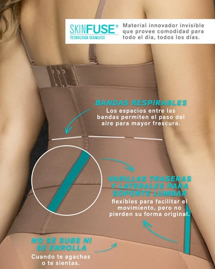 lower back support brace with 3 adjustable lumbar support belts--MainImage