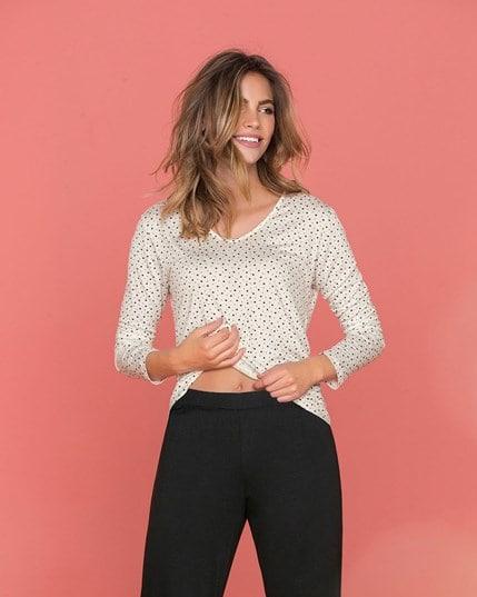 camisa manga larga para pijama--MainImage