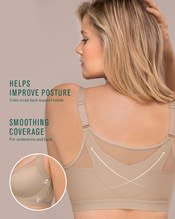 new back support posture corrector wireless bra with contour cups--AlternateView3