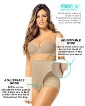 high-waisted firm tummy compression postpartum panty with adjustable belly wrap--AlternateView2