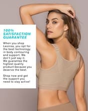 doctor recommended post-surgical wireless bra with front closure--AlternateView4
