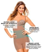 butt lifter tummy control body shaper boyshort with removable pads--AlternateView2