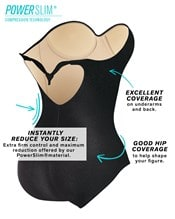one piece strapless swimsuit with tummy control--AlternateView3