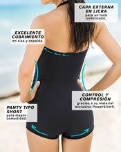 vestido de bano entero con falda short y control de abdomen--AlternateView3