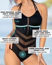 mesh cutout one piece swimsuit--AlternateView2