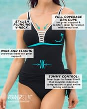 one piece swimsuit with tummy control and a multiway skirt--AlternateView2