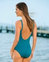 schlankmachender badeanzug mit sexy mesh-einsatz--AlternateView1
