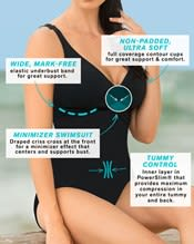 tummy control one piece swimsuit with crisscross top--AlternateView2