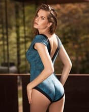 30f54e4b052d8 dreamy plunging neckline one-piece slimming swimsuit--AlternateView1