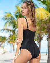 cross-front one-piece shaping swimsuit--AlternateView1