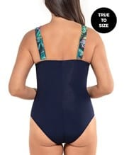 slimming color block plunge one-piece swimsuit--AlternateView1