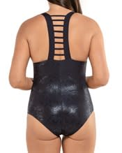 slimming one-piece ladder back plunge swimsuit--AlternateView1