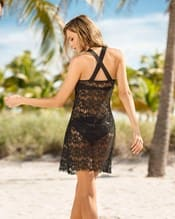 vestido corto en encaje para la playa--AlternateView1