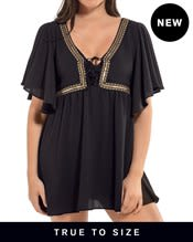 goddess batwing beach cover-up dress--MainImage