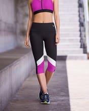 color block slimming athletic capri--MainImage