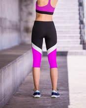 color block slimming athletic capri--AlternateView1
