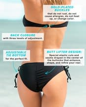 strapless top and adjustable string-tie bottom swimsuit--AlternateView3