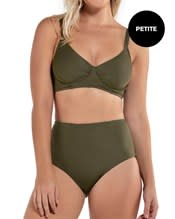 adjustable triangle top bikini with high-waisted reversible bottom--AlternateView2