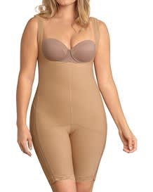 Power Body Shaper with Thighs Slimmer and Side Zippers