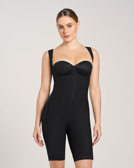 Body Shaper with Thighs Slimmer and Side Zippers