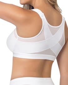 back support posture corrector wireless bra - multifunctional-000- White-MainImage