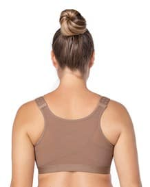 doctor recommended post-surgical wireless bra with front closure-857- Brown-MainImage