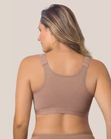 back support posture corrector wireless bra - multifunctional-857- Brown-MainImage