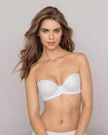 extreme push up strapless bra - add 2 sizes-000- White-MainImage
