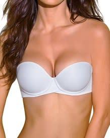 extreme push up strapless petite bra-000- White-MainImage