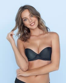 extreme push up strapless petite bra-700- Black-MainImage