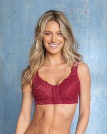fabulous lace wireless minimizer bra with back support--MainImage