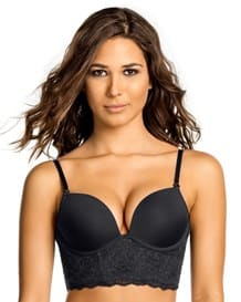 extreme push up plunge bustier petite bra--MainImage