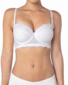lace balconet strapless push up bra--MainImage