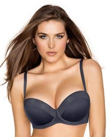 strapless luxurious balconet support bra--MainImage