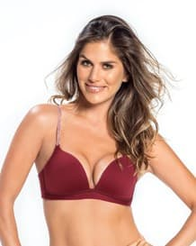 power bra de doble realce sin arco-174- Burgundy-MainImage