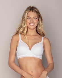 retro full coverage bra with natural push up-134- White-MainImage
