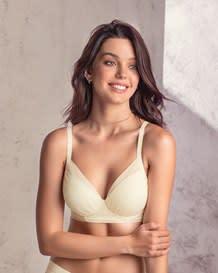 retro full coverage bra with natural push up-898- Ivory-MainImage