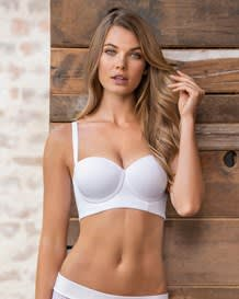 strapless longline slimming bra-000- White-MainImage
