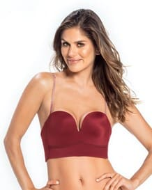 bustier strapless de maximo realce-174- Burgundy-MainImage