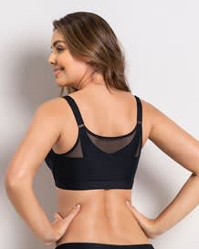 posture corrector wireless bra with back support and contour cups-700- Black-MainImage