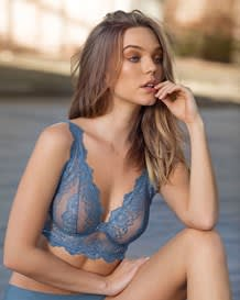 sheer lace bustier bralette with underwire-579- Blue-MainImage
