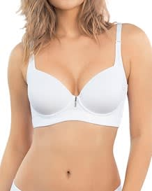 high profile underwire bra with full coverage - coverbra-000- White-MainImage