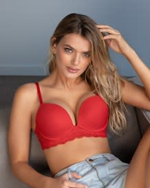 perfect lift underwire push up bra with lace details--MainImage