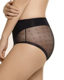 klassisches panty mit transparentem tll-701- Black-MainImage