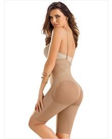 nahtlose shapewear mit hoher taille und beinkompression-087- Beige-MainImage