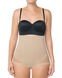 high-waisted tummy sculpting sheer boyshort shaper--MainImage