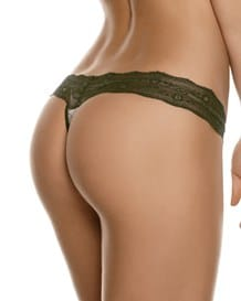 luxury low-rise lacey thong panty--MainImage